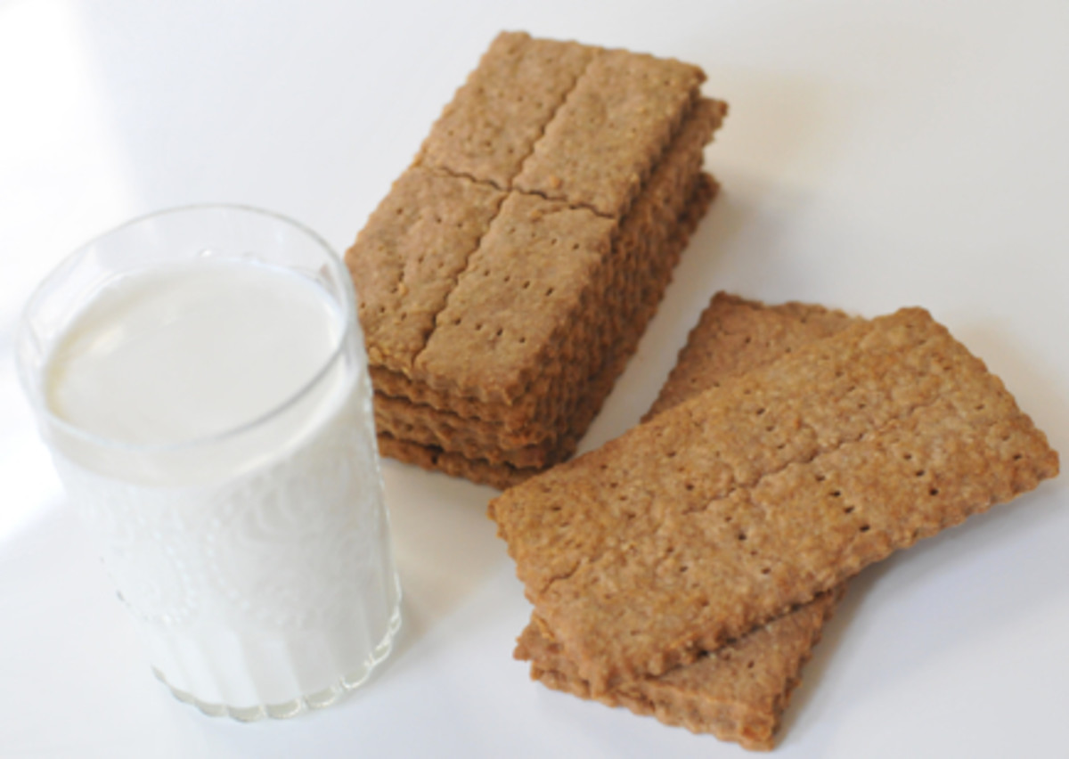 {Homemade Graham Crackers}