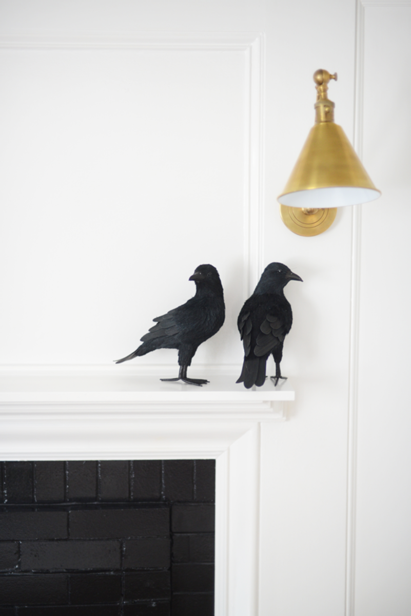 {Crows on the mantel}