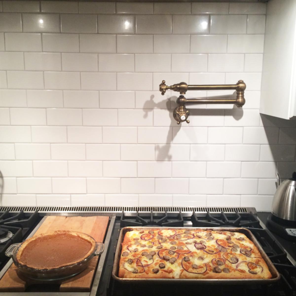 {Homemade pie night: classic pumpkin + savory sausage}