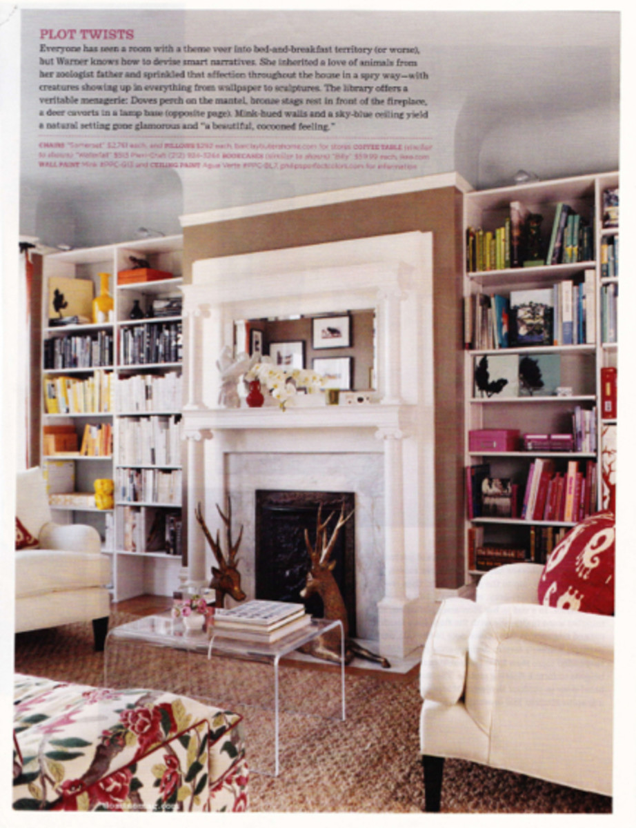 {Love the color-coded bookshelves and multiple textures}