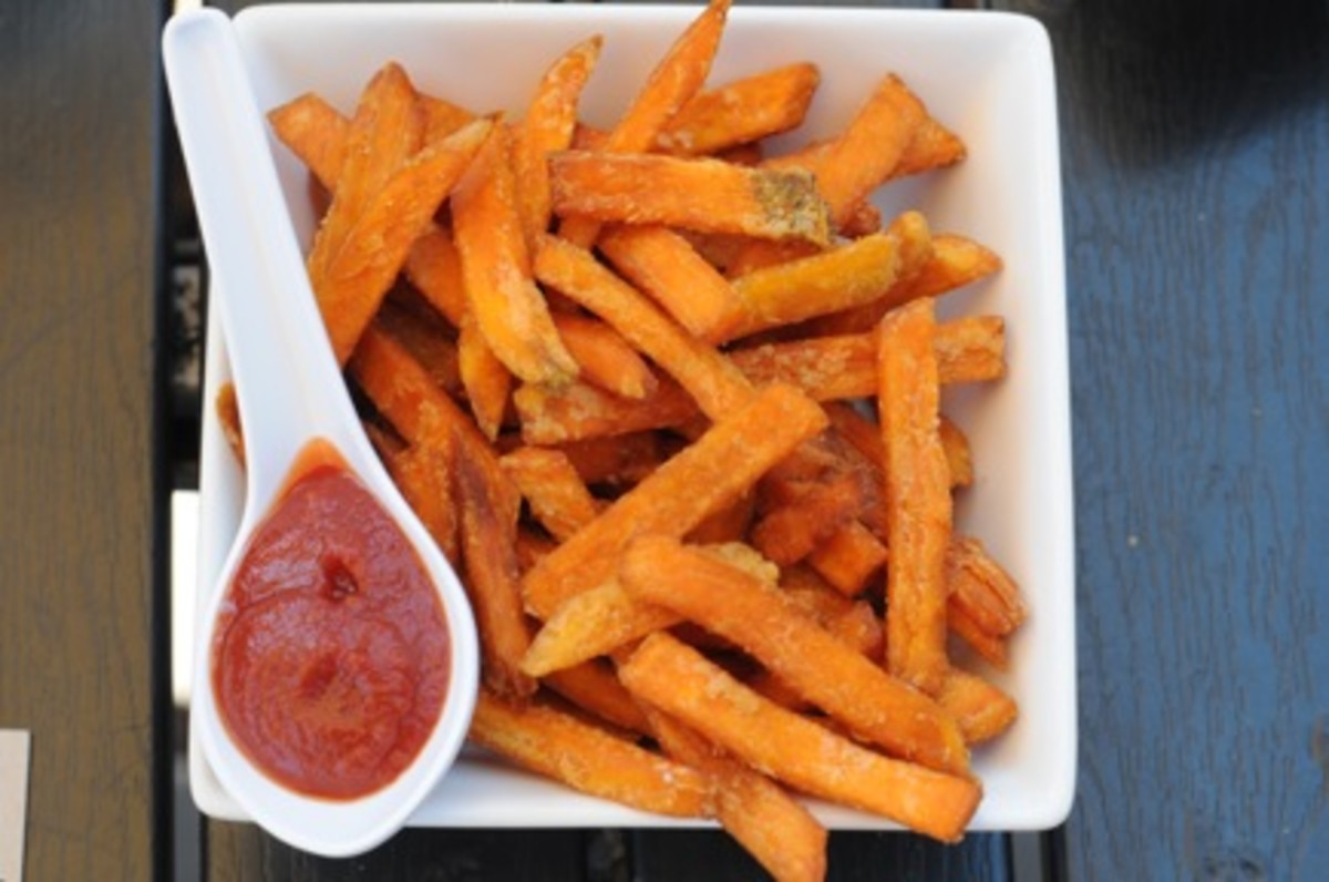 Sweet Potato Fries {with Umami Ketchup}