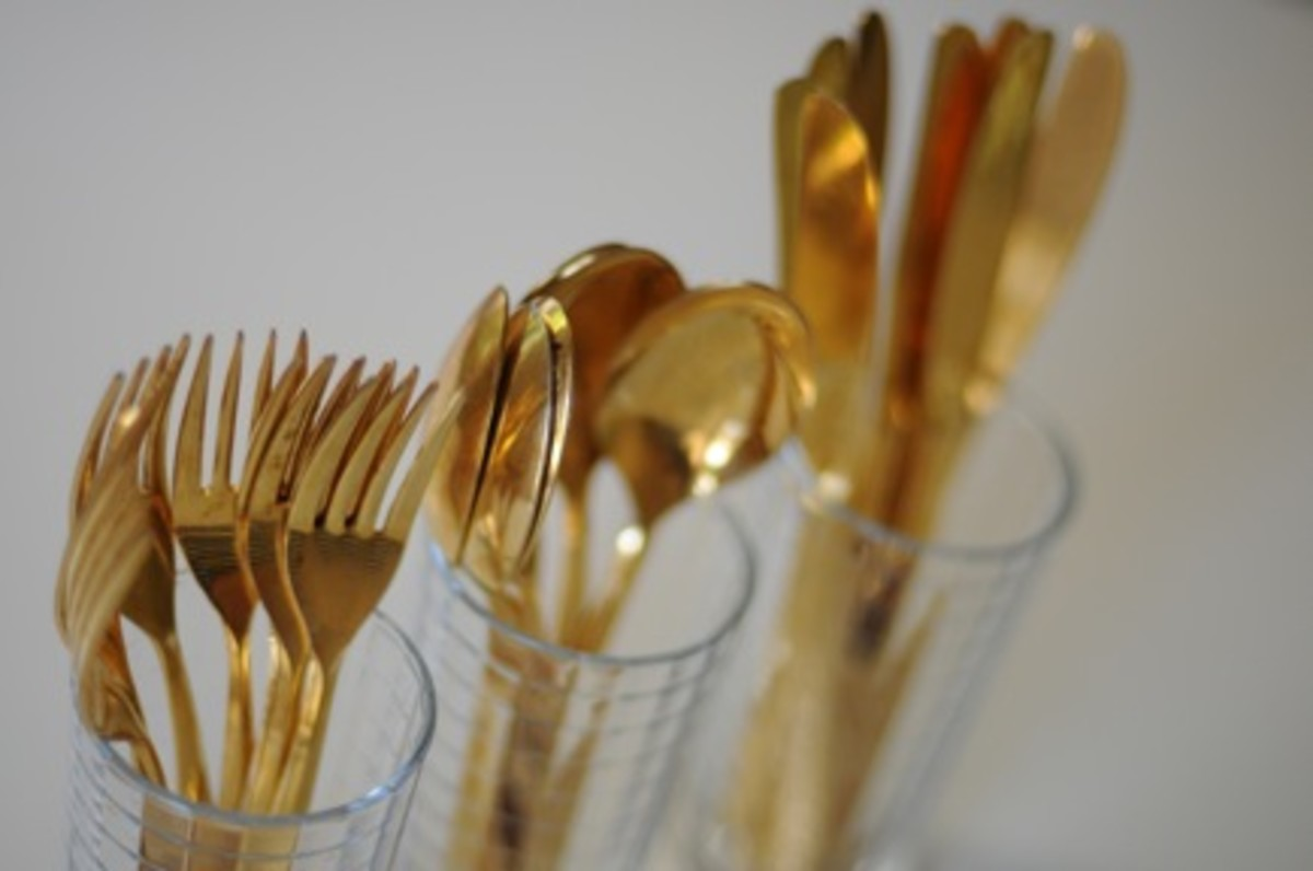 gold-silverware
