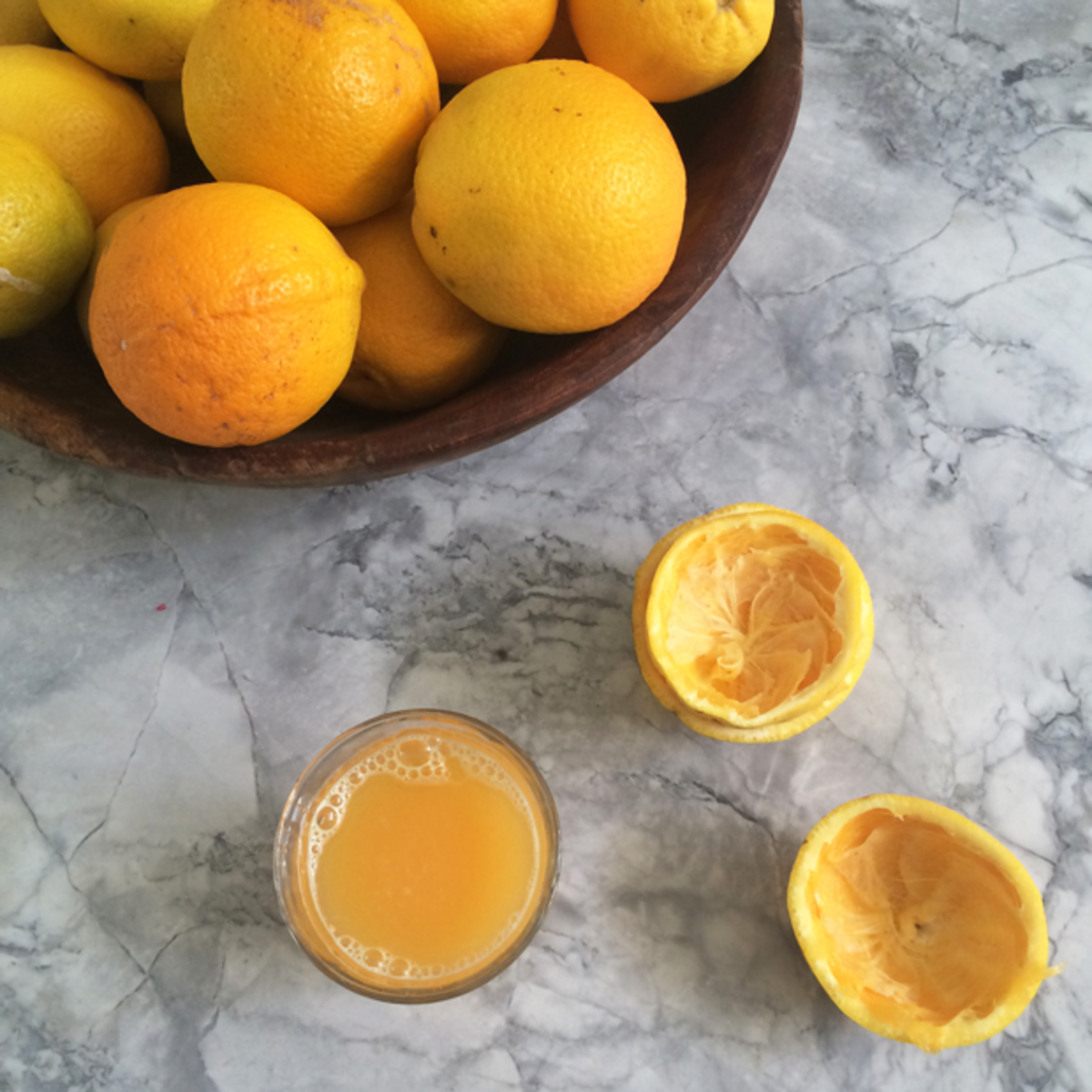 {Fresh citrus for morning juice}