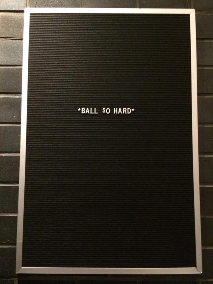 {Wall inspiration atEast Borough restaurant}