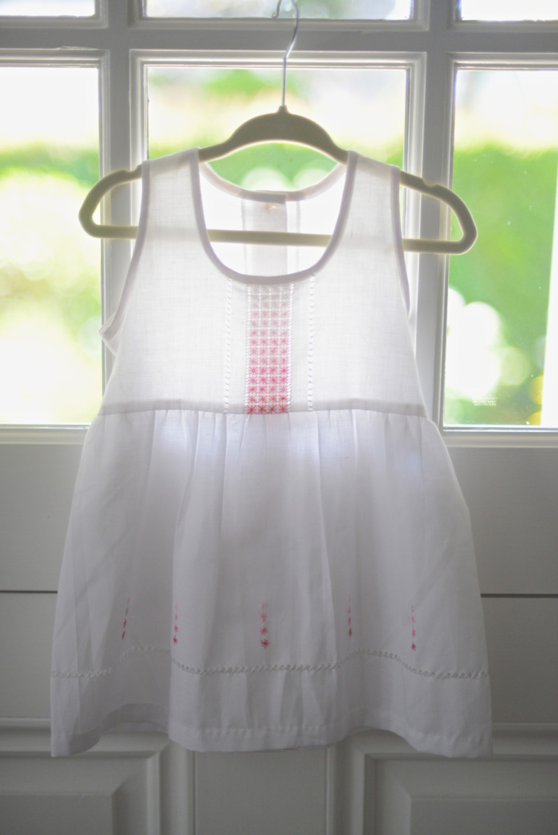 {A beautiful dress my friend brought back for Sloan from Cuba}