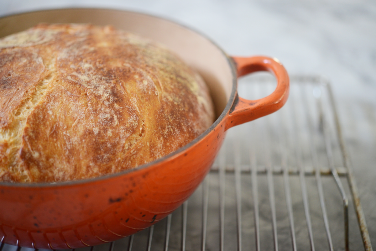 {Rediscovered my love for this no-knead bread}
