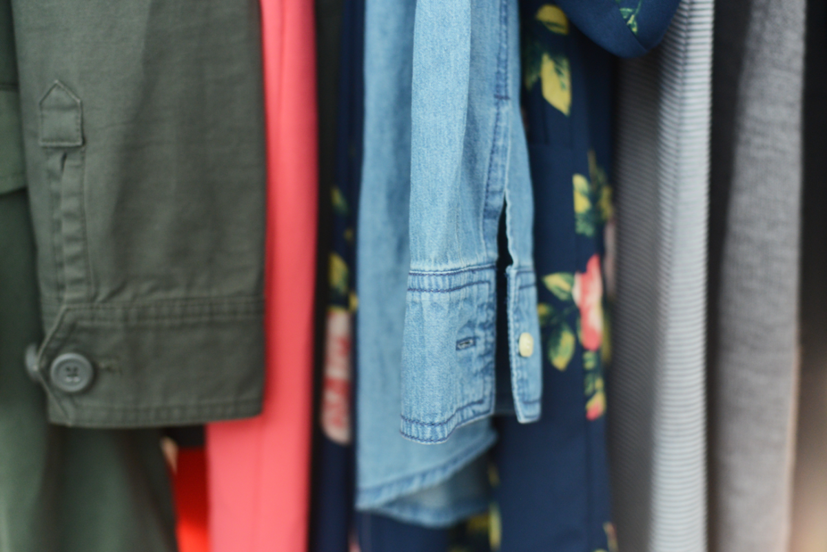 Jackets, prints and chambray.