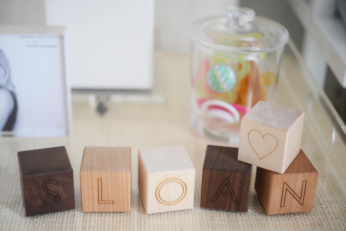 {Wooden baby blocks}