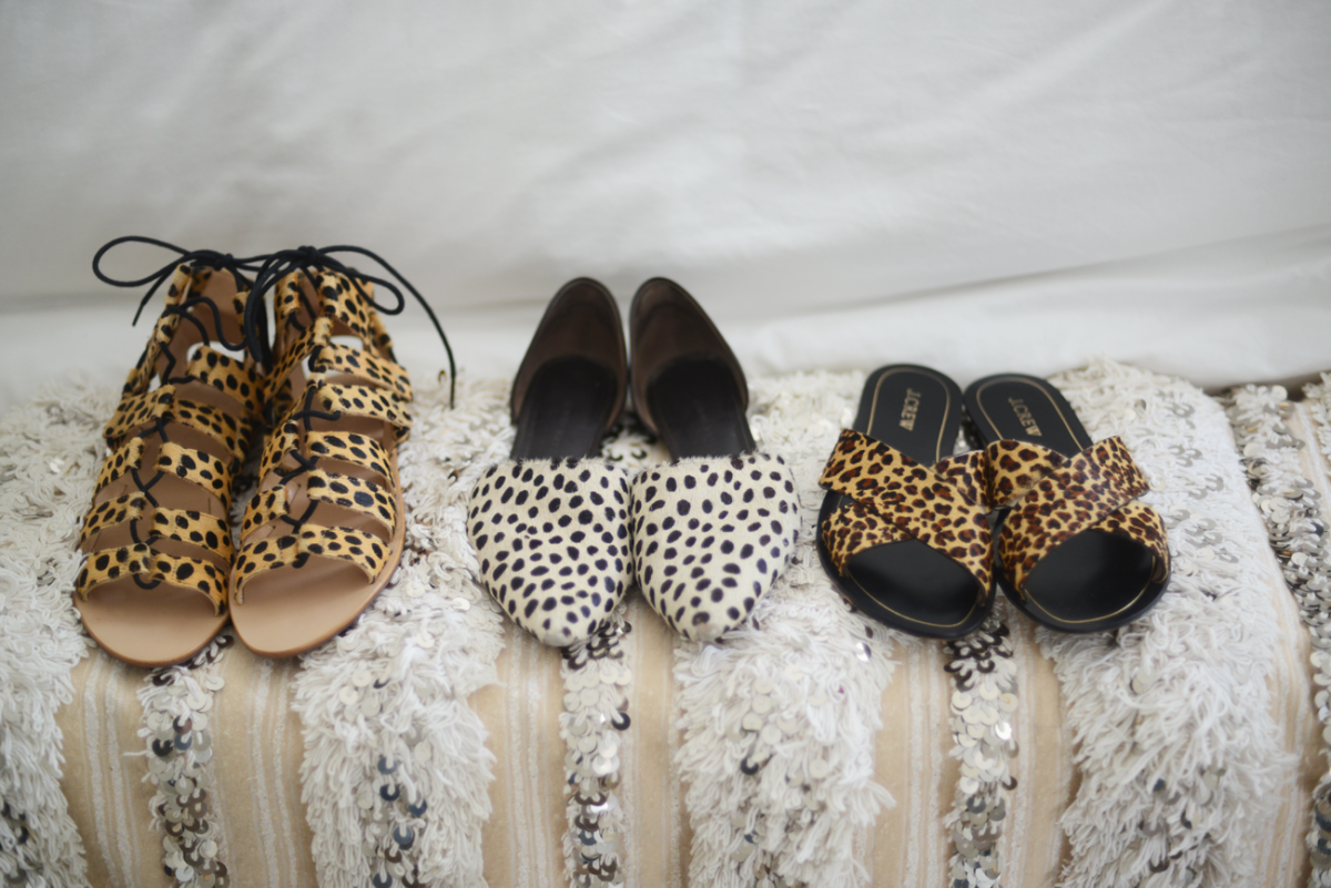 {I'm obviously feeling leopard, as of late: Loeffler Randall, Jenni Kayne (similar), J.Crew}