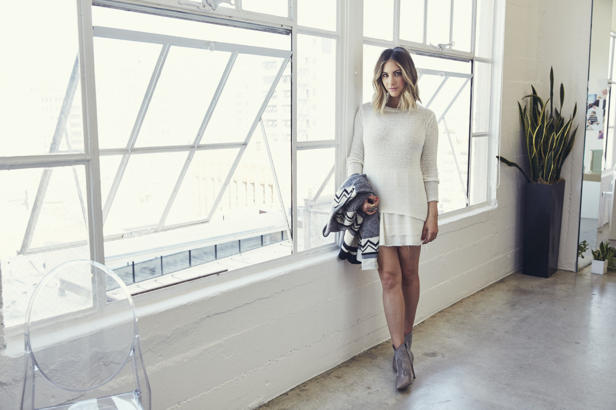 The Sonoma Sweater and Prima Chiffon Skirt, available in August, the Sequoia Sweater, available here.