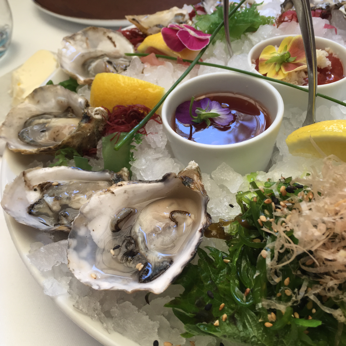 {The prettiest platter of oysters from our team lunch last week}