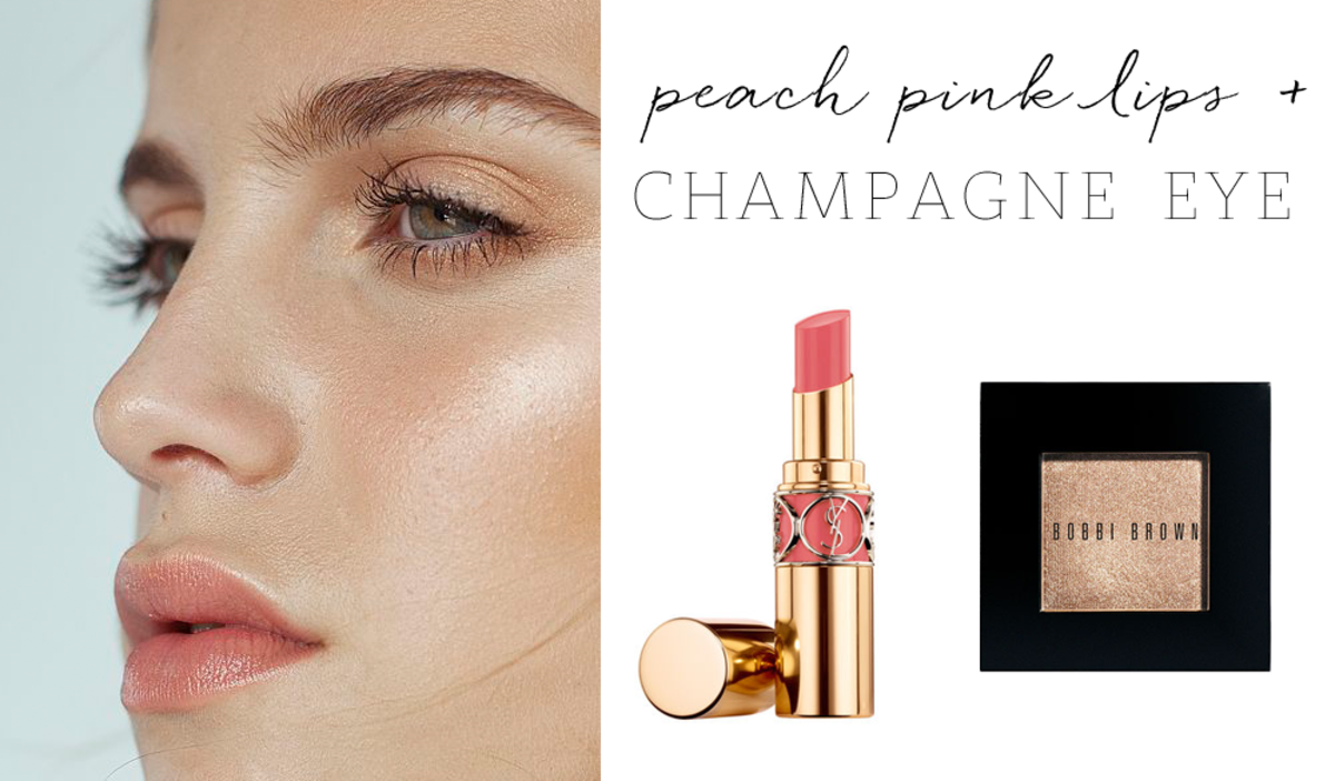 YSL 'Pink in Paris' Lipstick, Bobbi Brown ' Champagne' Shimmer Wash Eyeshadow