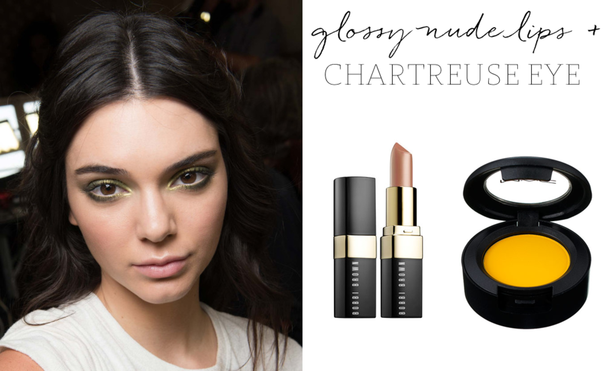 Bobbi Brown 'Beige' Lipstick, MAC 'Chrome Yellow' Eyeshadow