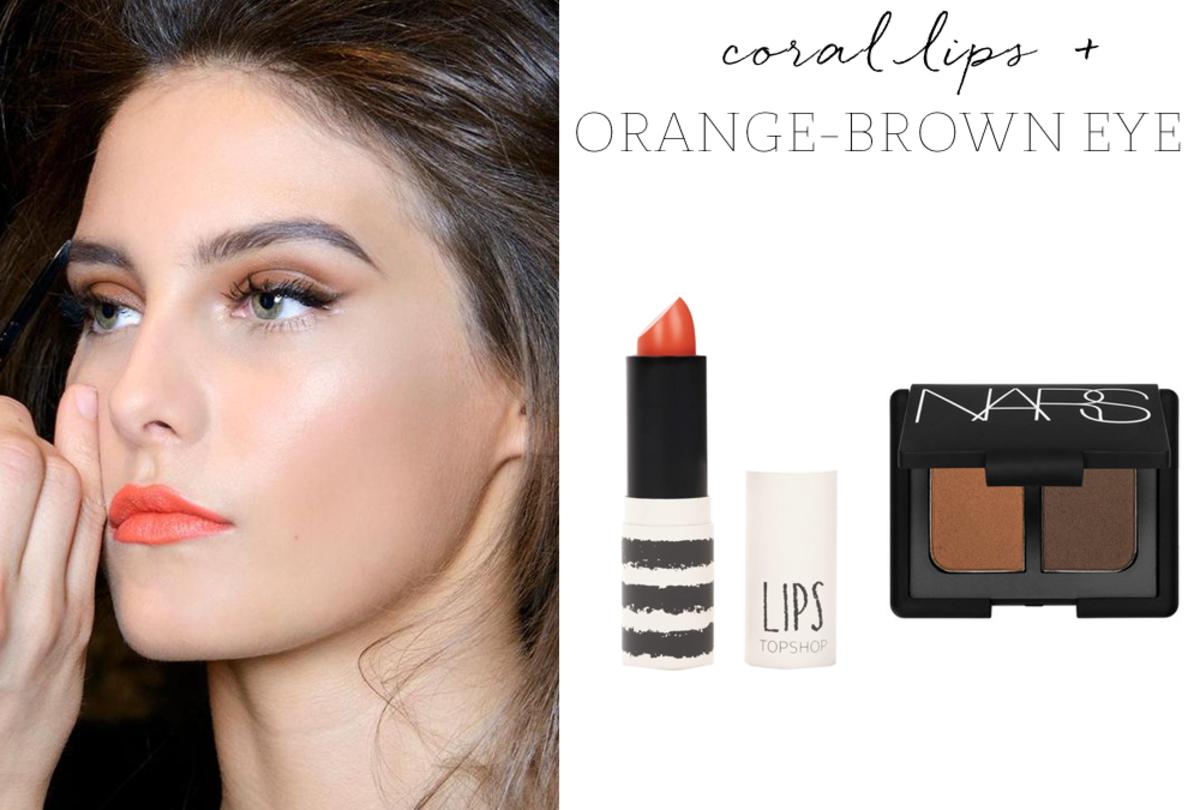 Topshop 'Charmed' Lipstick, NARS ' Cordura' Eyeshadow
