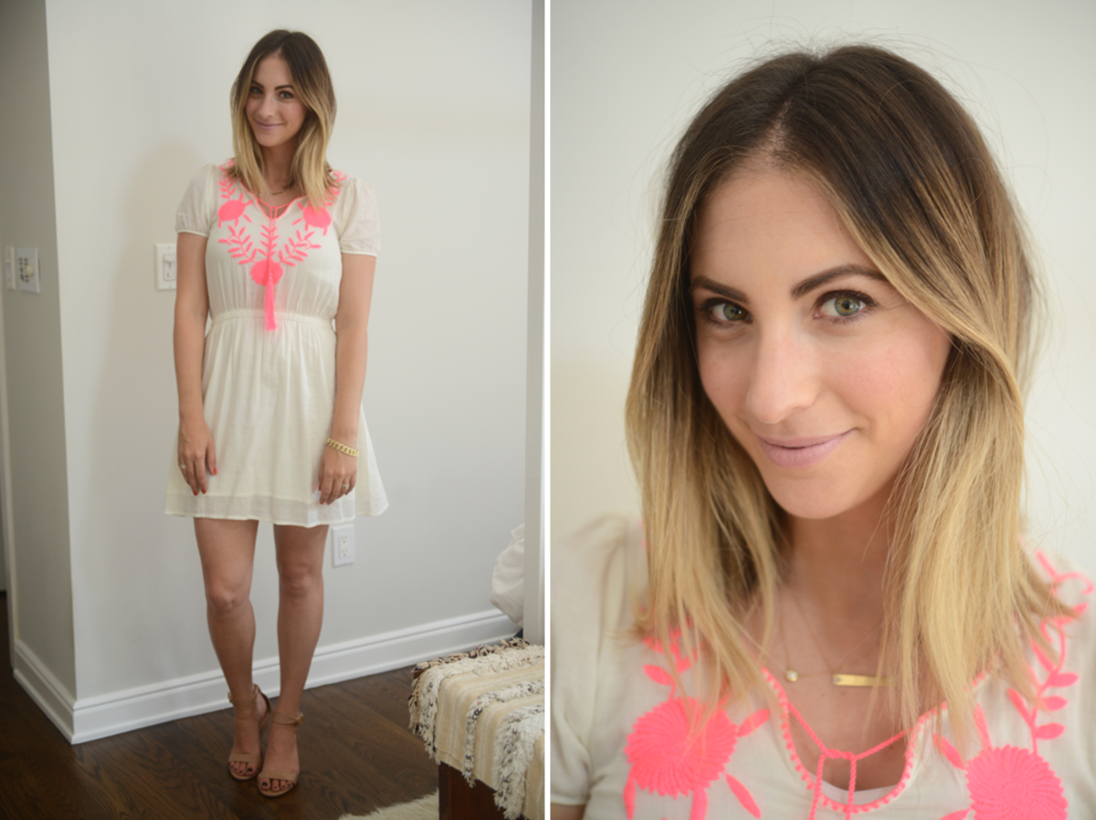 {Friday: d.Ra Dress, J.Crew Sandals, Topshop 'Saint' Lipstick}