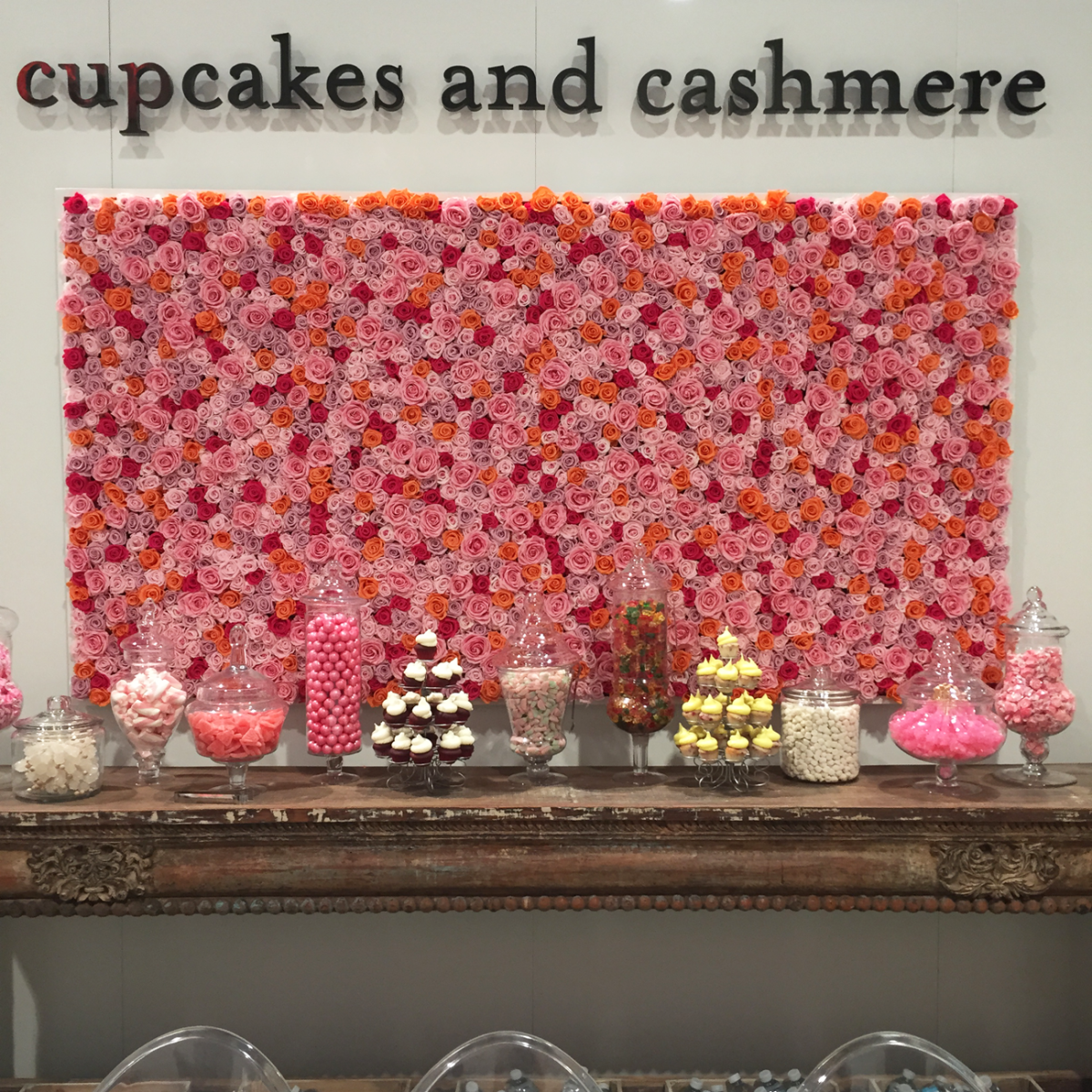 {The Cupcakes and Cashmere booth at Magic}