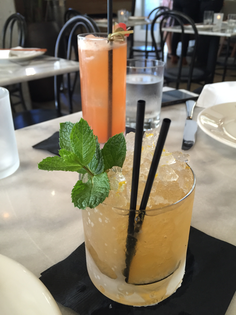 "{""Bourbon Papaya Smash"" at Cassia}"