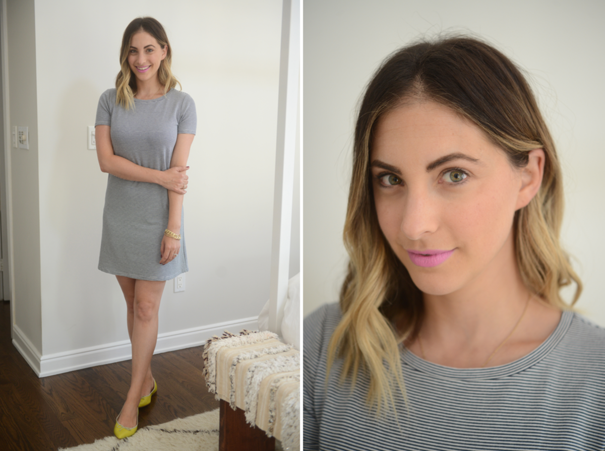 {Wednesday: Cupcakes and Cashmere Dress, J.Crew Flats, Topshop 'Tease' Lipstick}