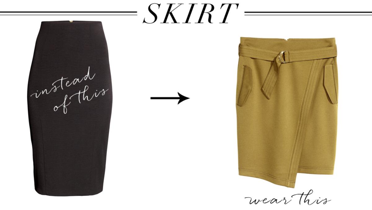 skirt left, right