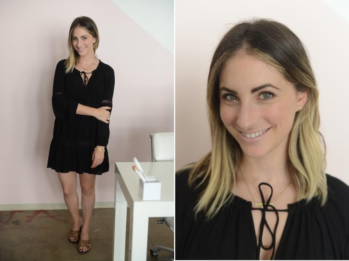Tuesday: Zara Dress, J.Crew Sandals, Tom Ford 'Nude Vanille' Lipstick