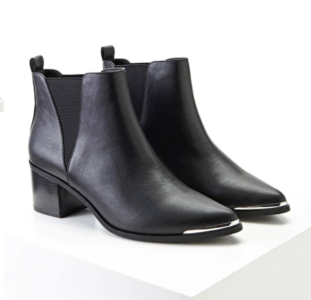 Shop the Item: Faux Leather Ankle Boots ($32) - These remind me of my beloved Alexander Wang boots with metallic detail, for a fraction of the cost