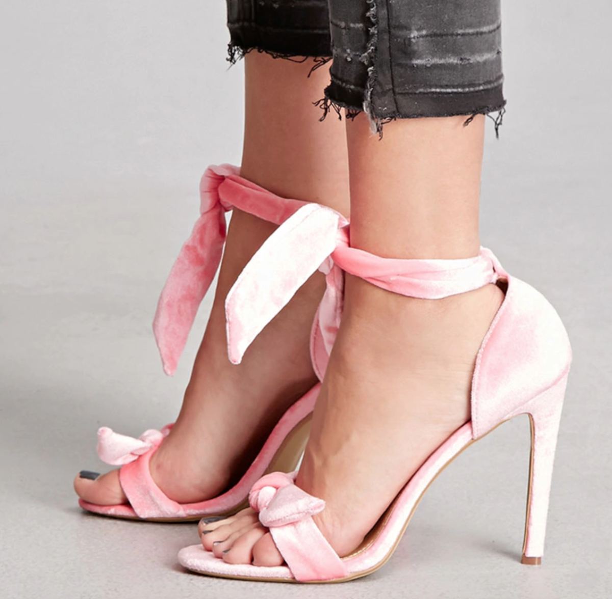 Shop the Item: Velvet Heels ($35) - Such a feminine and flirty novelty heel