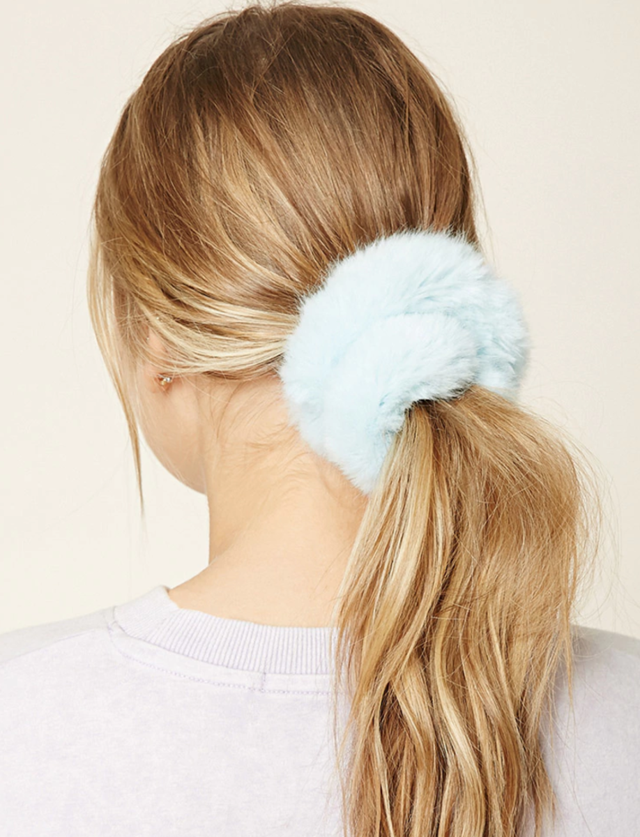 Shop the Item: Faux Fur Scrunchie ($2) - I love what a fun, unexpected moment this fuzzy scrunchie provides
