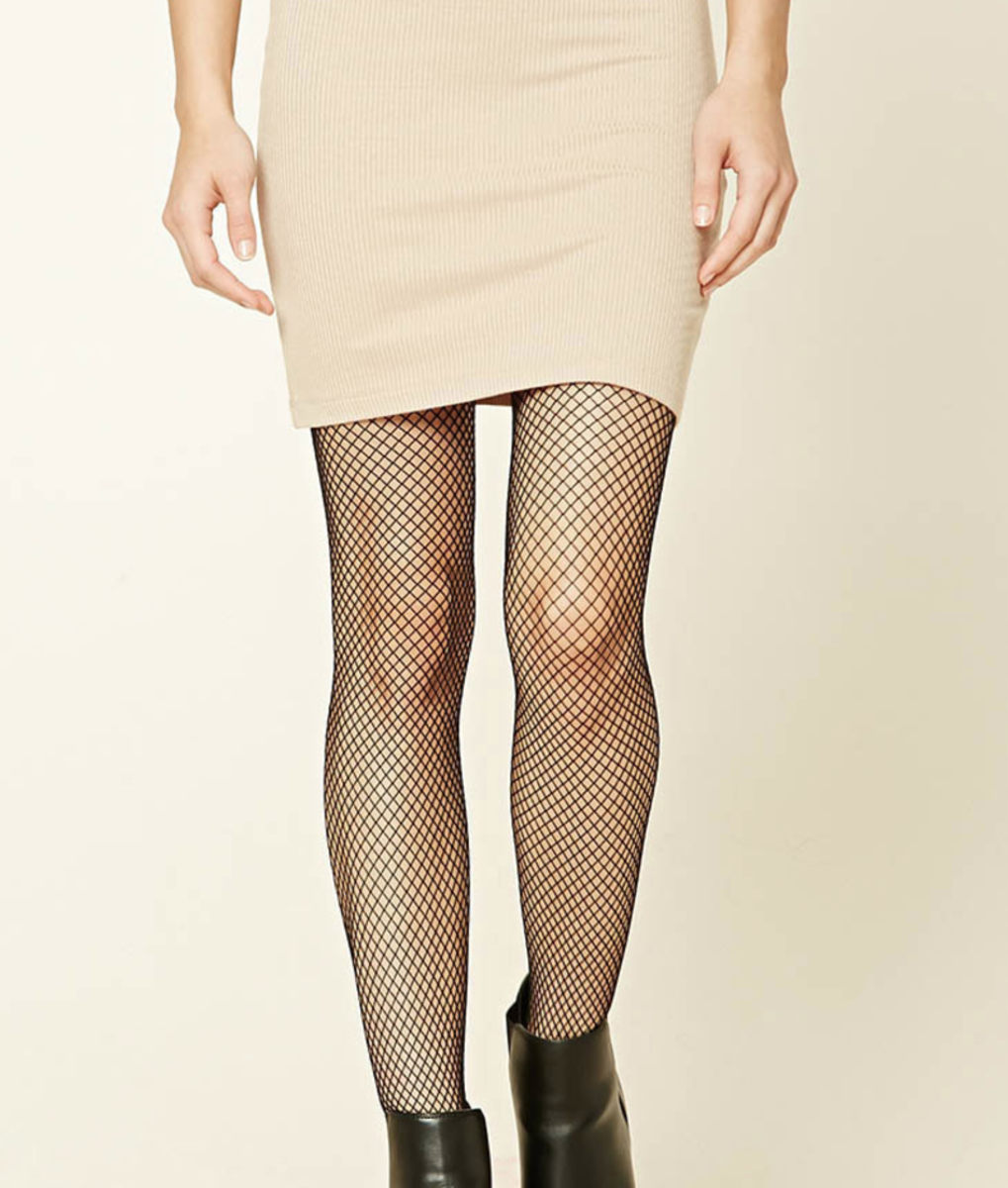 Shop the Item: Fishnet Tights ($6) - To wear with mini skirts and flat boots + chunky sweaters