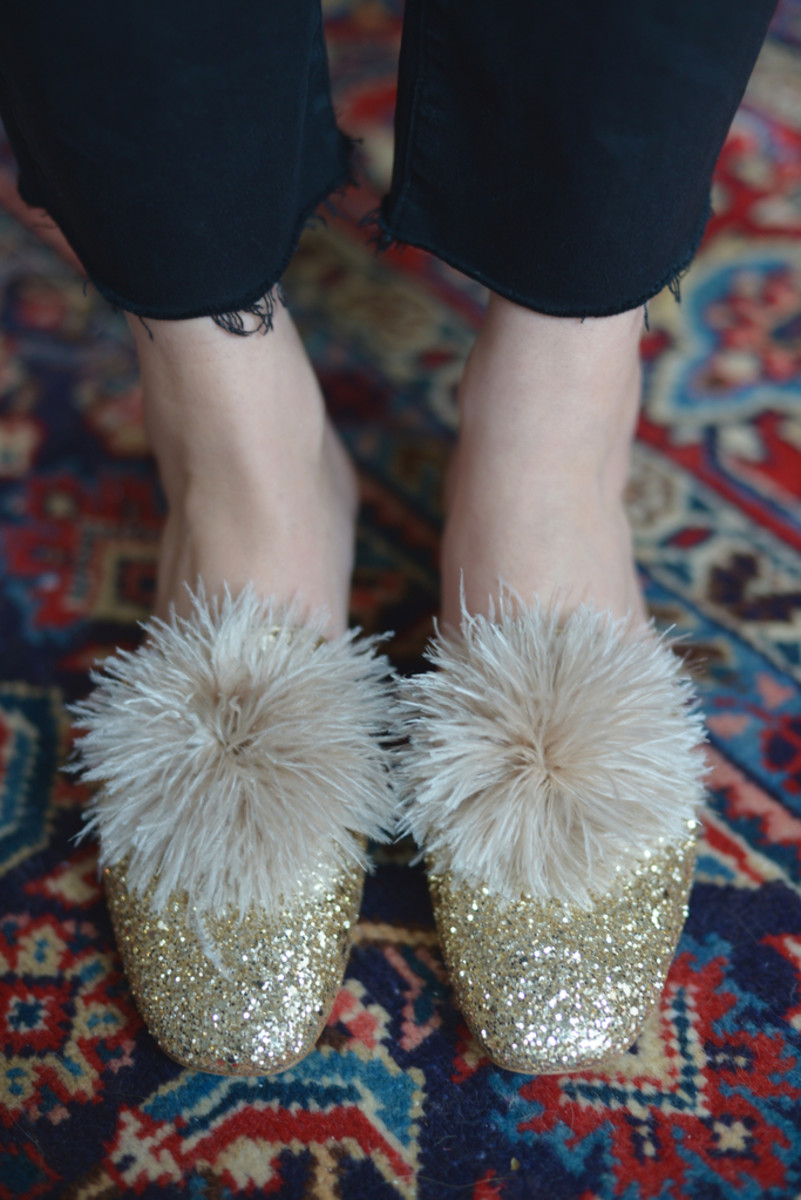 {These sparkly flats put me in a good mood every time I look down}