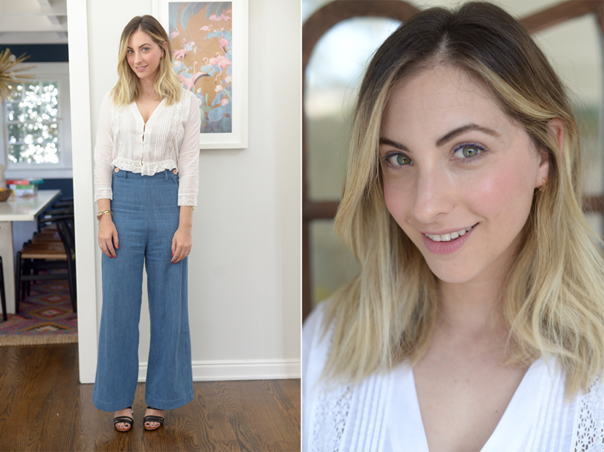 Monday: LoveShackFancy Blouse (similar here), Samantha Pleet Jeans, Zara Sandals