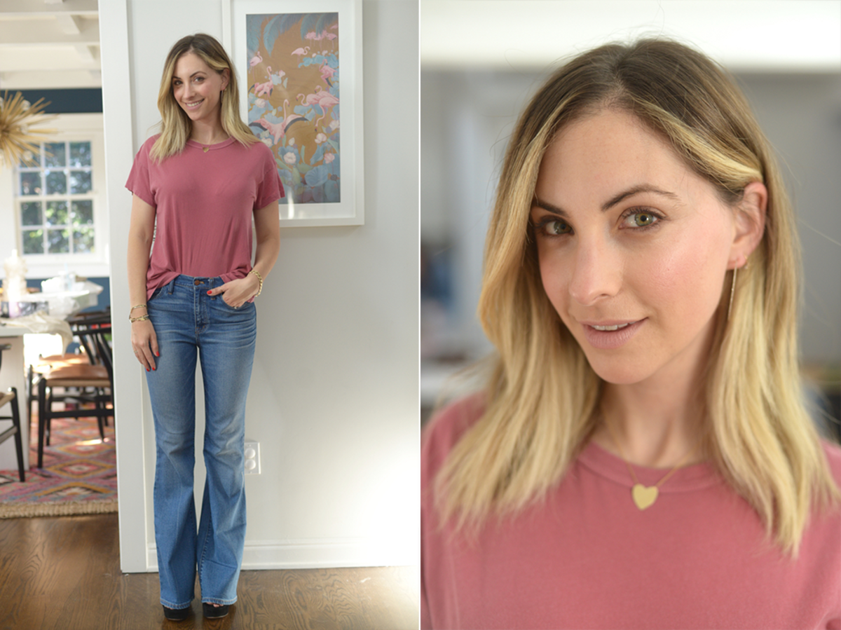 Tuesday: The Great Shirt, Madewell Jeans (similar here), Gianvito Rossi Platforms (similar here)