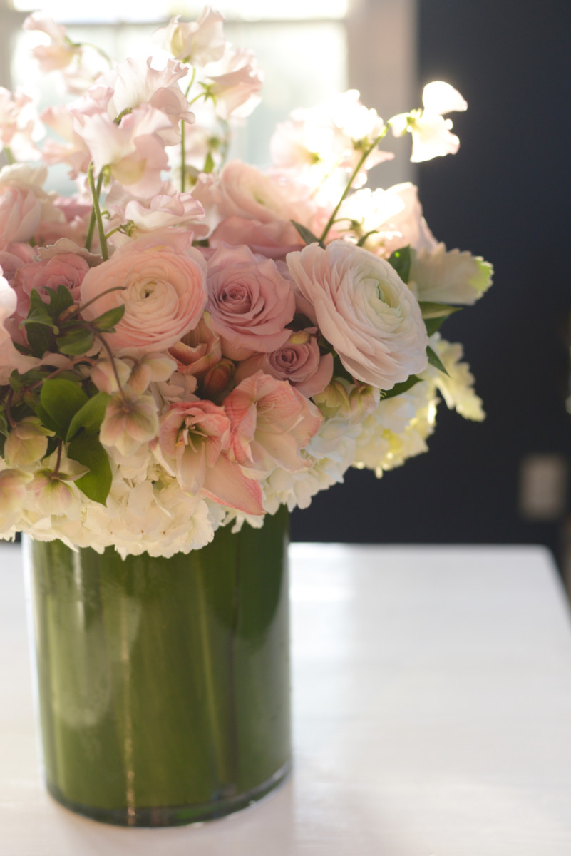 {The most beautiful surprise bouquet of flowers from G for Valentine's Day}