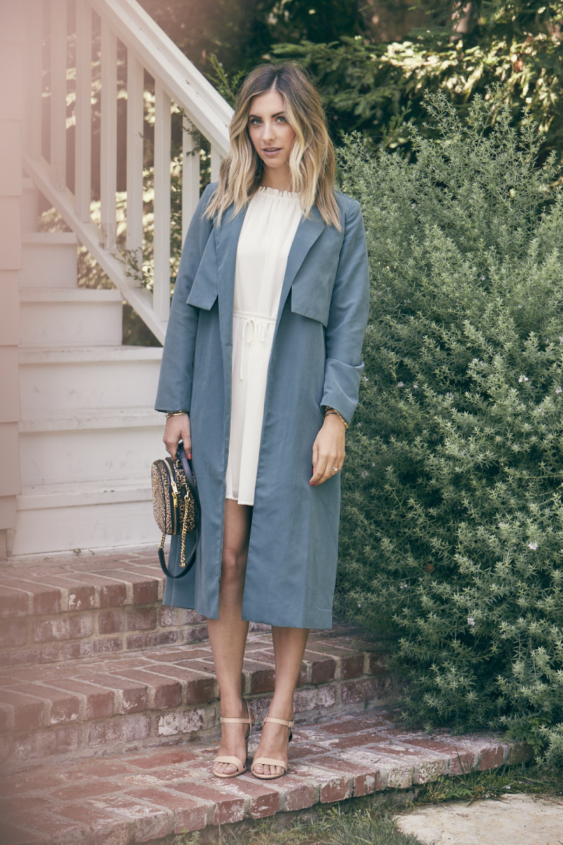 Cupcakes and Cashmere Dress and Trench (similar here)