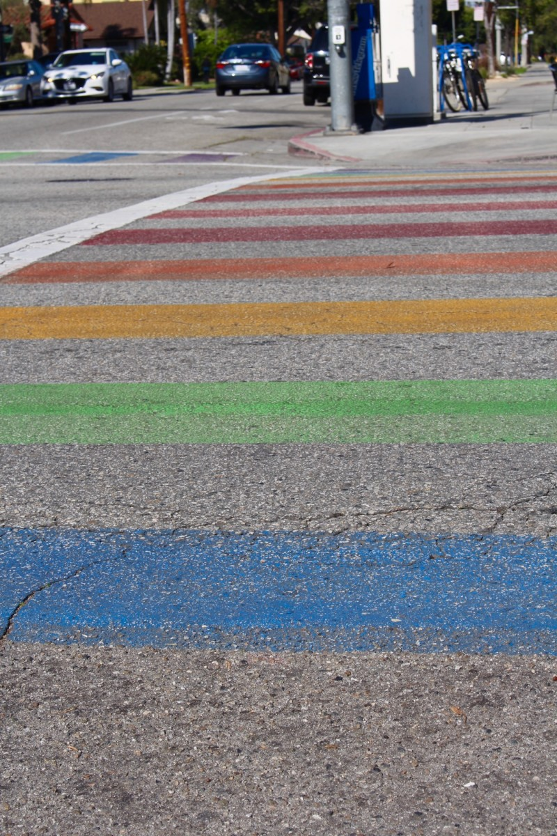 {If only all crosswalks were rainbow}