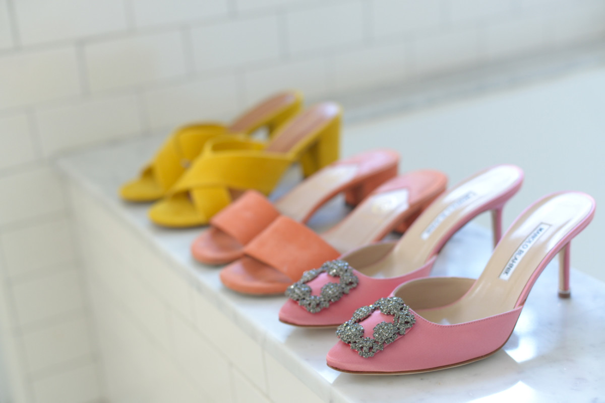 {A rainbow of shoes}