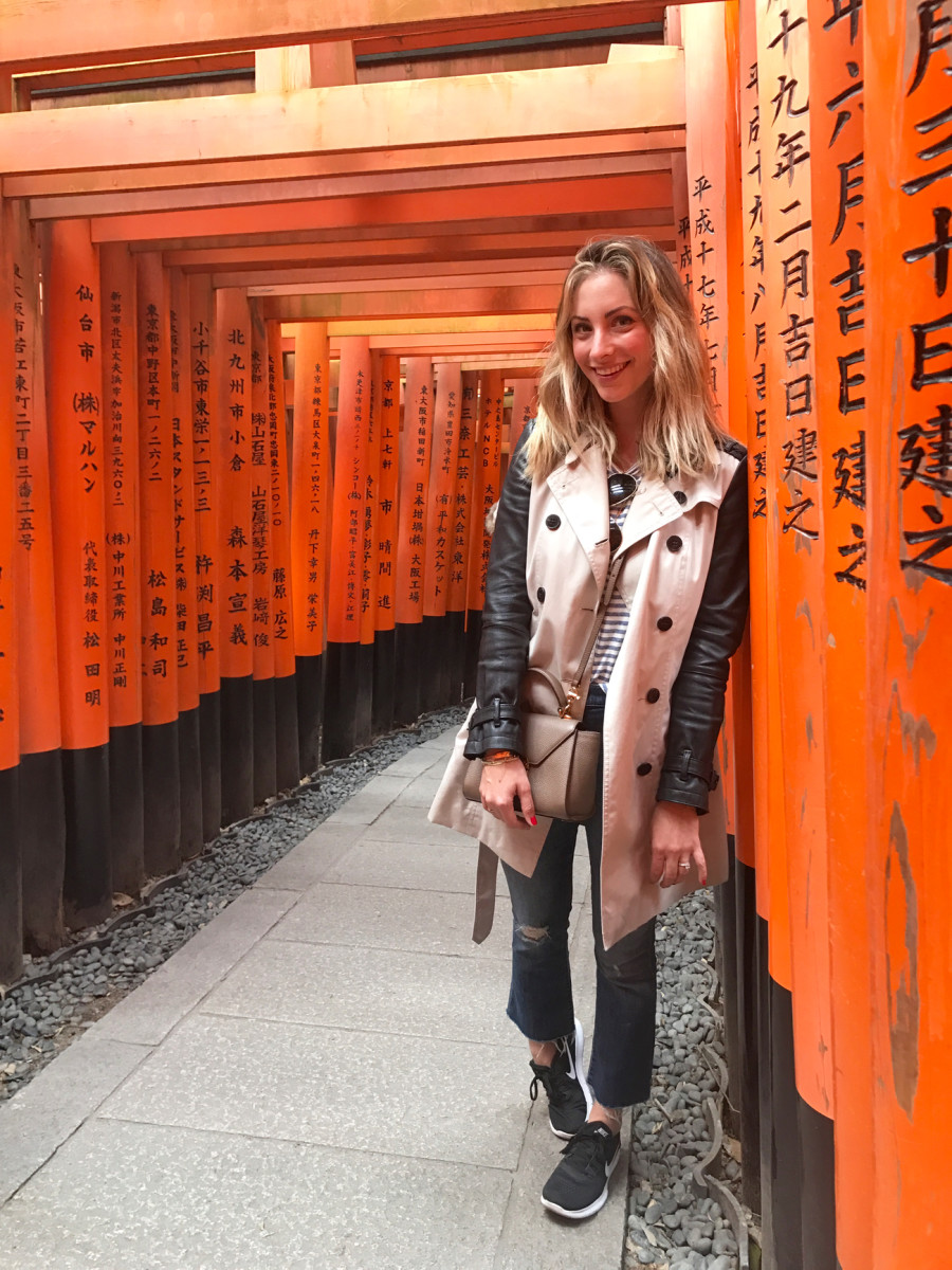 Amongst the thousands of torii at Fushimi Inari Taisha