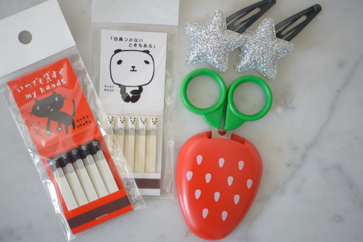 {Have you ever seen cuter matches or scissors?}