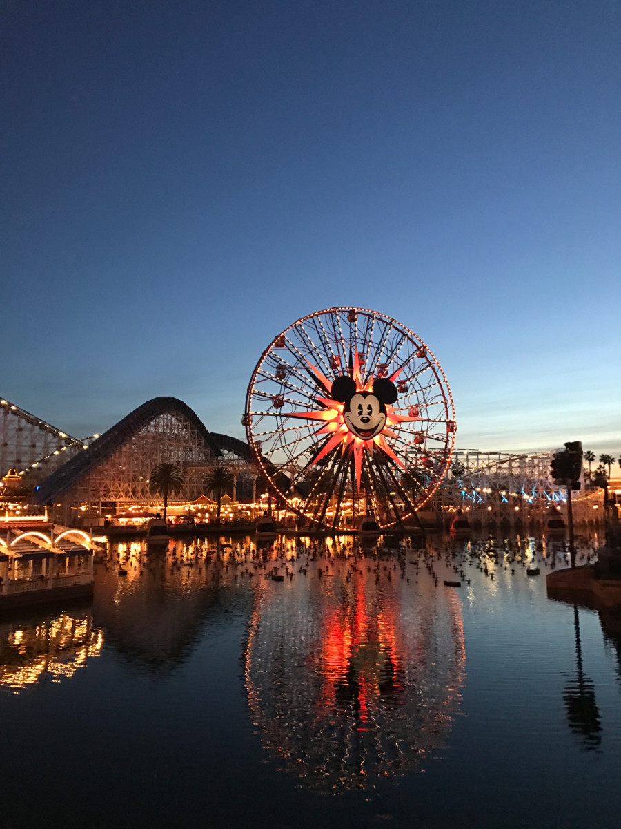 {Disneyland at dusk from a friend's birthday party last week}