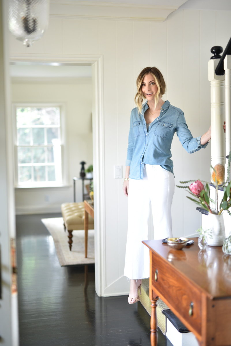 Cupcakes and Cashmere Chambray Top, MOTHER Denim