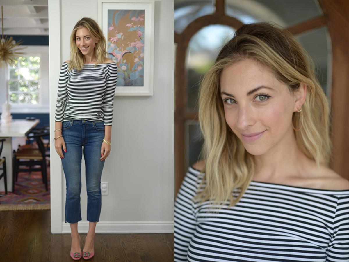 Thursday: Theory Shirt (similar here), MOTHER Jeans, Manolo Blahnik Slides (similar here)