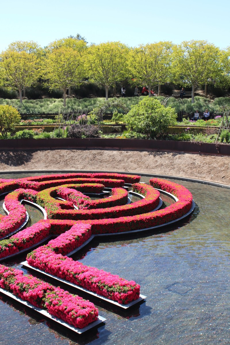 {The most striking garden maze at the Getty}