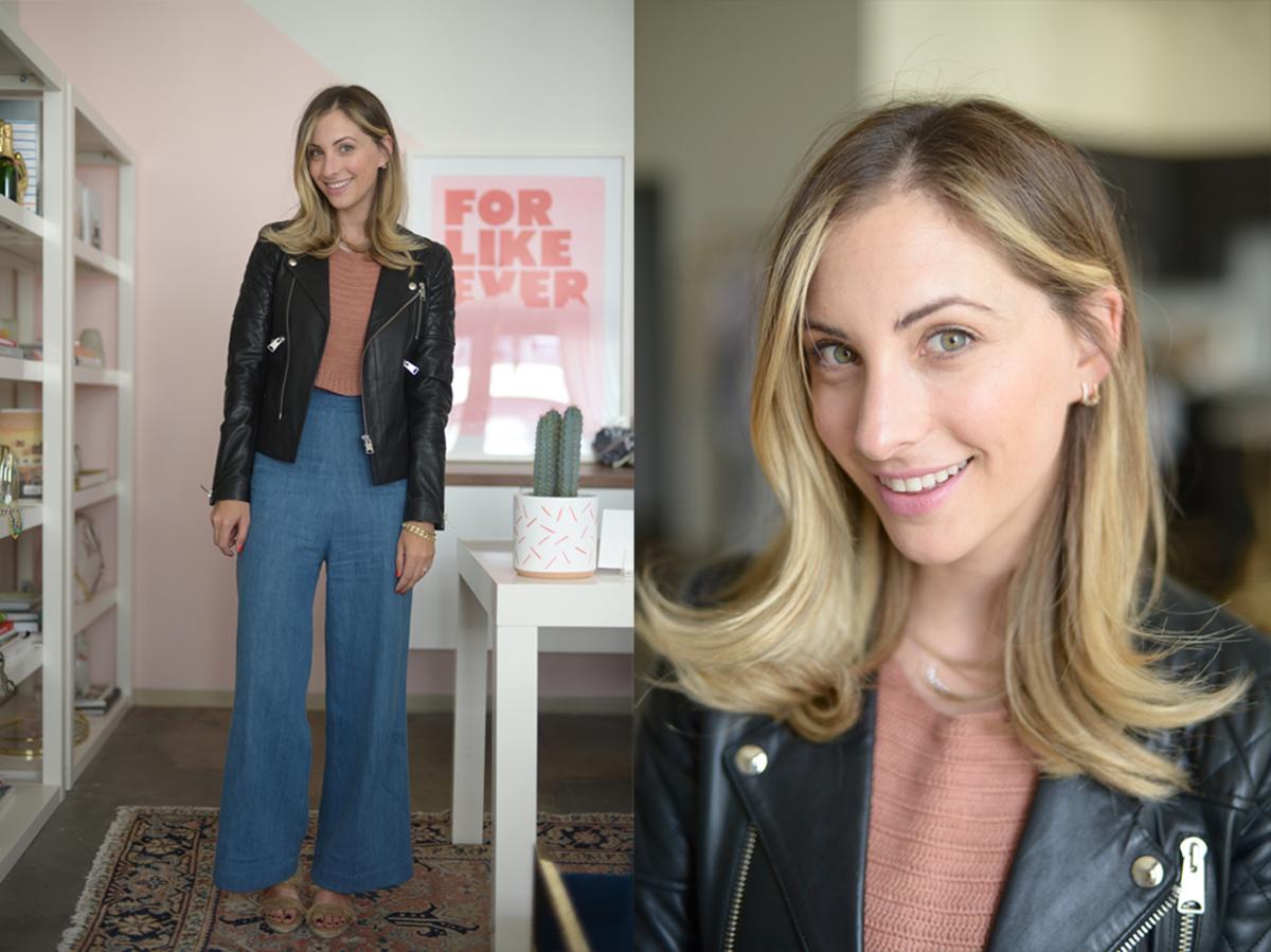 Monday: Anine Bing Leather Jacket, Rachel Comey Sweater (similar here), Samantha Pleet Jeans, Castañer Espadrilles (similar here)