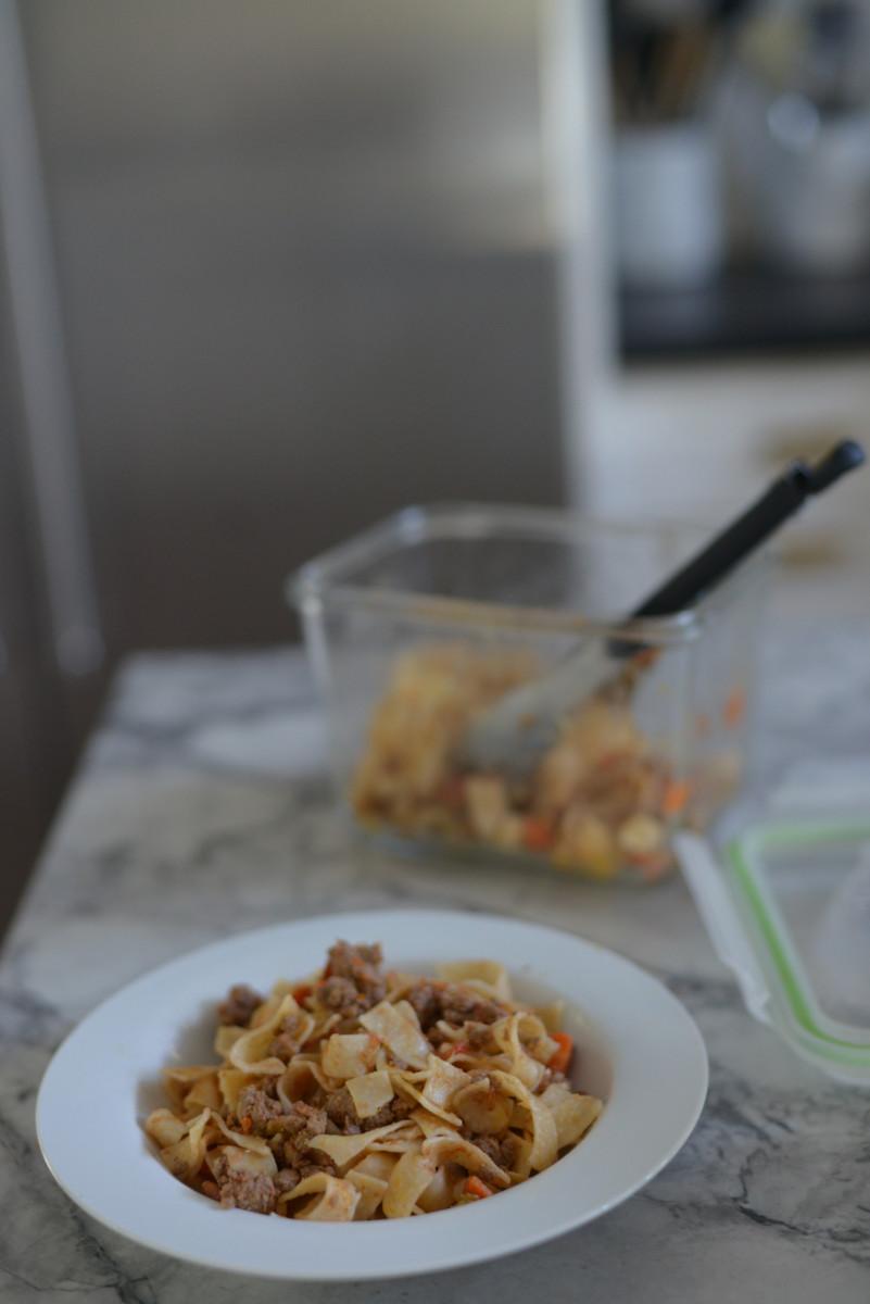 leftover bolognese