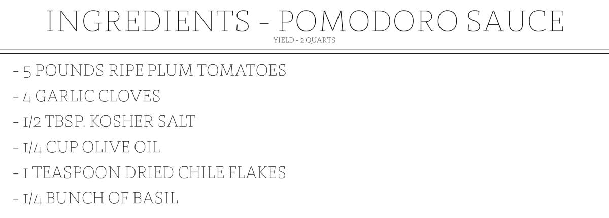 Spaghetti al Pomodoro Ingredient Slides_POMODORO SAUCE
