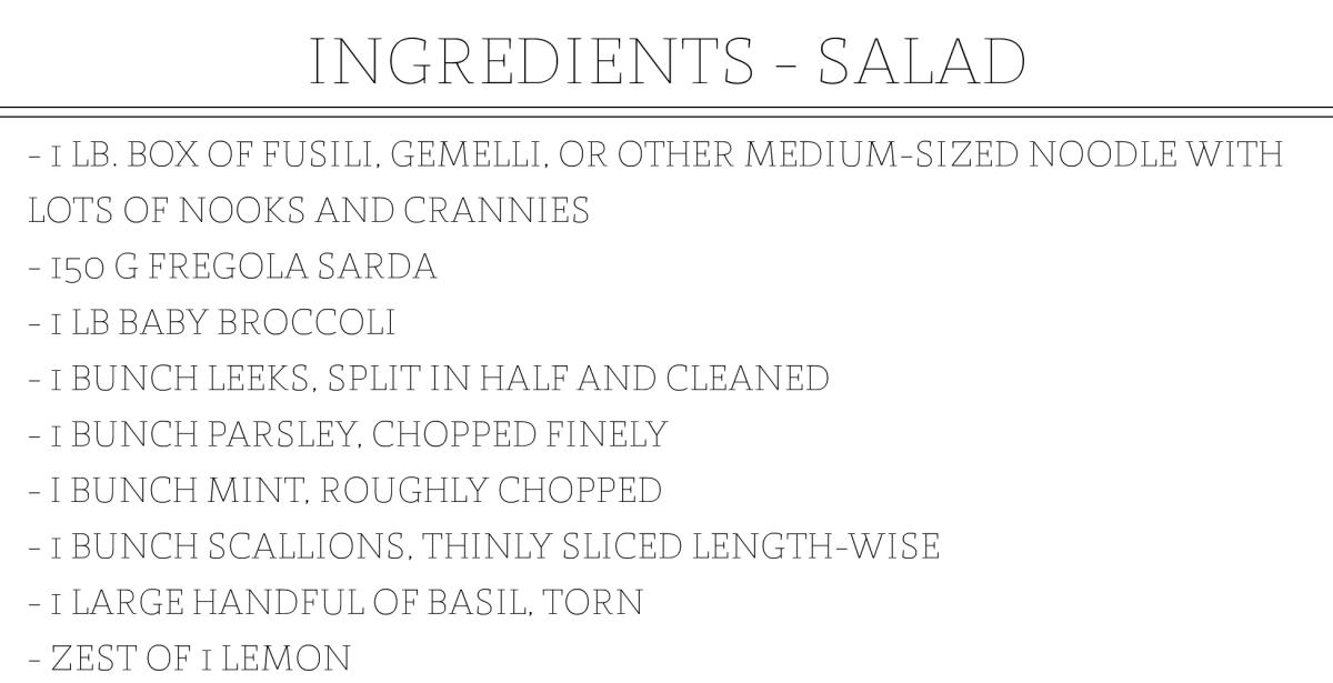 Cosa Buona Ingredient Slides_SALAD INGREDIENTS