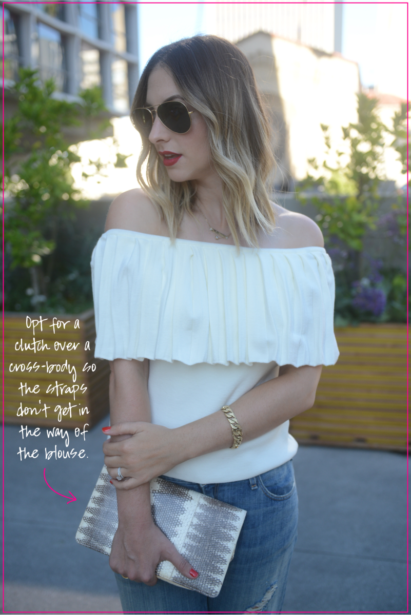 How to Style an Exaggerated Structured Top 4 Ways_Off Shoulder