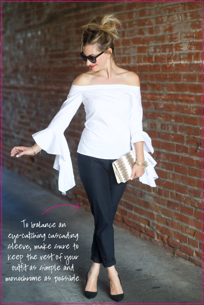 How to Style an Exaggerated Structured Top 4 Ways_Cascading Sleeves