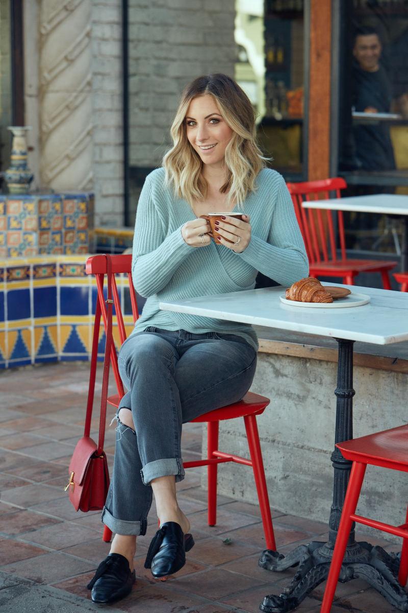 Cupcakes and Cashmere Sweater, Current/Elliot Denim (similar here), Edun Flats (similar here), Celine Purse (similar here)