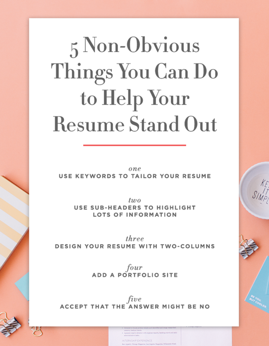 5 Non-Obvious Things You Can Do to Make Your Resume Stand Out ...