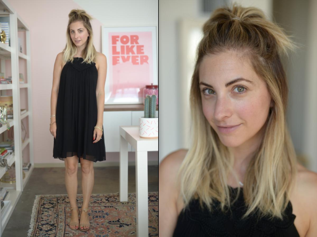 Friday: Rebecca Taylor Dress (similar here), J.Crew Sandals (similar here)
